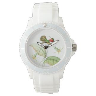 Hummingbird Birds Wildlife Flowers Animals Floral Wrist Watches