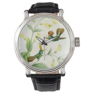Hummingbird Birds Wildlife Flowers Animals Floral Wristwatch