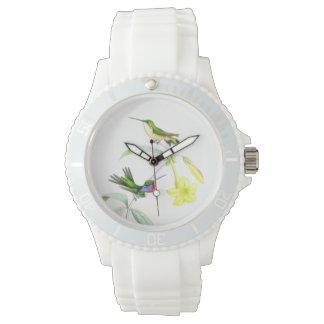 Hummingbird Birds Wildlife Flowers Animals Floral Wristwatches