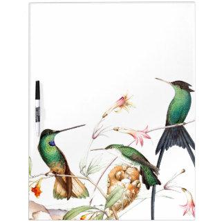 Hummingbird Birds Wildlife Flowers Erase Board