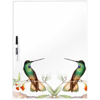 Hummingbird Birds Wildlife Flowers Erase Board Dry-Erase Board