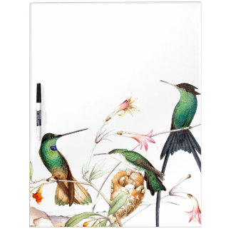 Hummingbird Birds Wildlife Flowers Erase Board Dry-Erase Boards
