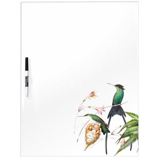 Hummingbird Birds Wildlife Flowers Erase Board Dry-Erase Whiteboard
