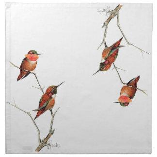 Hummingbird Birds Wildlife Flowers Floral Anumals Cloth Napkin