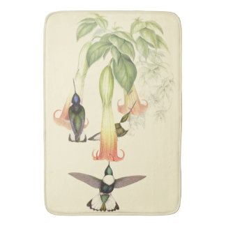 Hummingbird Birds Wildlife Flowers Floral Bath Mat