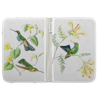 Hummingbird Birds Wildlife Flowers Floral Kindle Folio Case