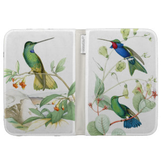 Hummingbird Birds Wildlife Flowers Floral Kindle Folio Cases