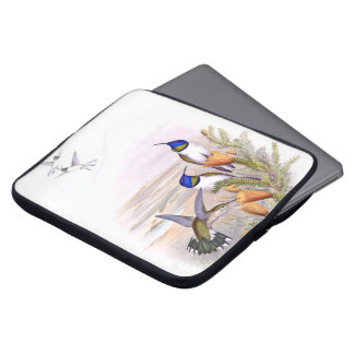 Hummingbird Birds Wildlife Flowers Laptop Sleeve