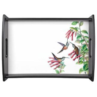 Hummingbird Birds Wildlife Flowers Serving Tray