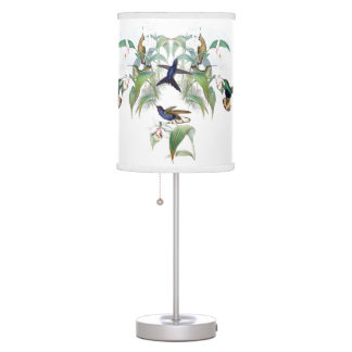 Hummingbird Birds Wildlife Flowers Table Lamp