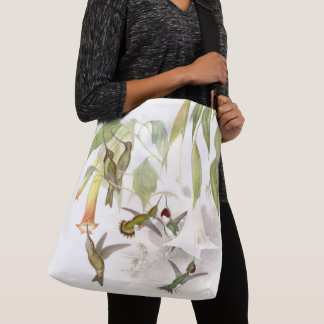 Hummingbird Birds Wildlife Flowers Tote Bag