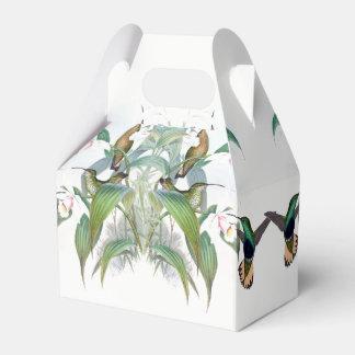 Hummingbird Birds Wildlife Orchid Floral Favor Box