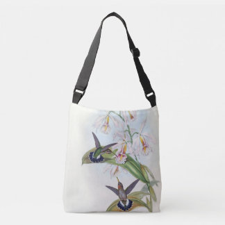 Hummingbird Birds Wildlife Orchid Flowers Tote Bag