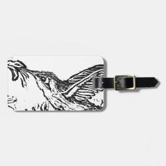 Hummingbird - Block Print Luggage Tag