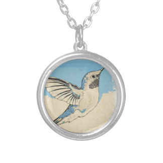 Hummingbird Blue 2 Silver Plated Necklace