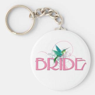 Hummingbird Bride Basic Round Button Keychain