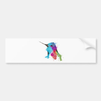 hummingbird bumper sticker