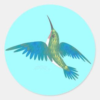 HUMMINGBIRD by SHARON SHARPE Classic Round Sticker
