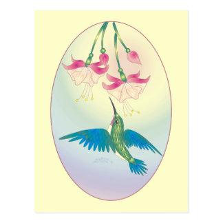 HUMMINGBIRD by SHARON SHARPE Postcard