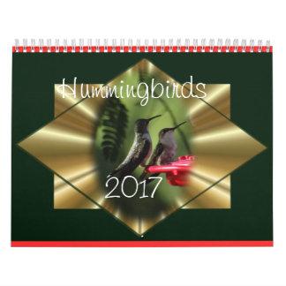 Hummingbird Calendar 2017- change year as needed