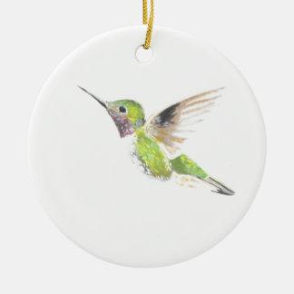 Hummingbird Ceramic Ornament
