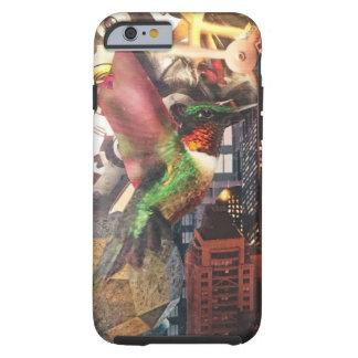 Hummingbird clockwork city steampunk collage tough iPhone 6 case