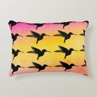 Hummingbird Colibri Ombre Pattern Pillow