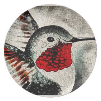 Hummingbird Comic Dinner Plate
