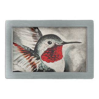 Hummingbird Comic Rectangular Belt Buckles