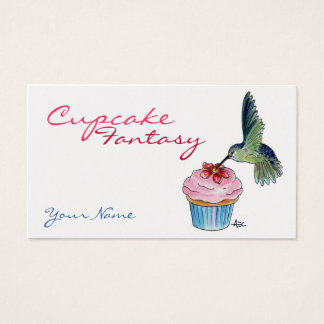 Hummingbird Cupcake Custom Business Card
