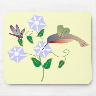 Hummingbird & Dragonfly Mousepad