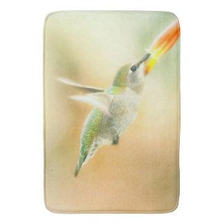 Hummingbird early morning flight bathroom mat