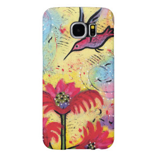 Hummingbird Fantasy Art for Phone Samsung Galaxy S6 Cases