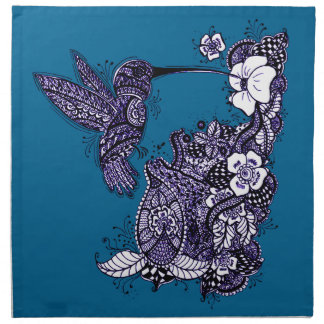 Hummingbird Feeding Cloth Napkin