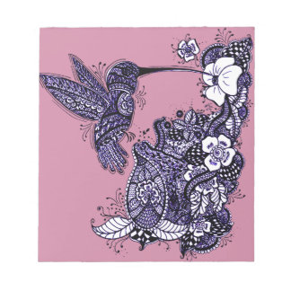 Hummingbird Feeding Notepad