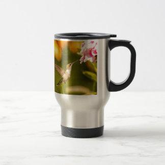Hummingbird Fight Travel Mug