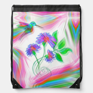 Hummingbird Flight Kaleidoscope Backpack Bag