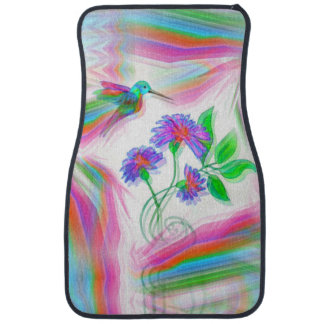 Hummingbird Flight Kaleidoscope Car Mat