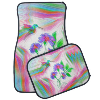 Hummingbird Flight Kaleidoscope Car Mats Set