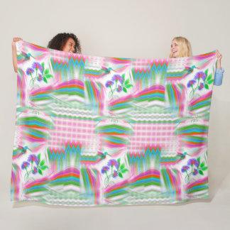 Hummingbird Flight Kaleidoscope Fleece Blanket