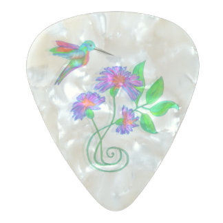 Hummingbird Flight Pearl Celluloid Guitar Pick