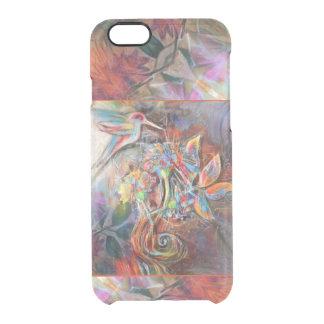 Hummingbird Flight Soft Pastels Art Clear iPhone 6/6S Case