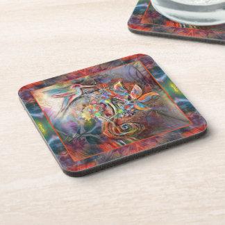 Hummingbird Flight Soft Pastels Art Coaster