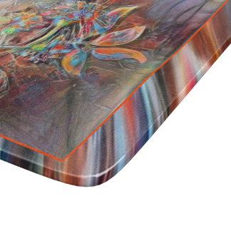 Hummingbird Flight Soft Pastels Art Cutting Board