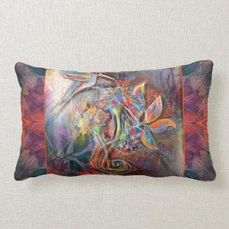 Hummingbird Flight Soft Pastels Art Lumbar Pillow