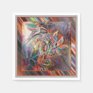 Hummingbird Flight Soft Pastels Art Paper Napkins