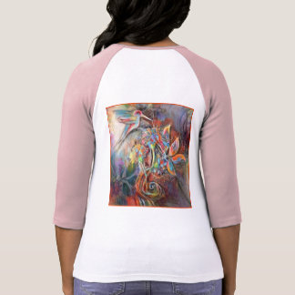 Hummingbird Flight Soft Pastels Art T-Shirt