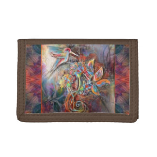 Hummingbird Flight Soft Pastels Art Tri-fold Wallets