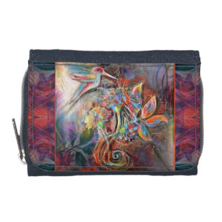 Hummingbird Flight Soft Pastels Art Wallet