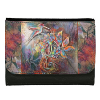 Hummingbird Flight Soft Pastels Art Wallets